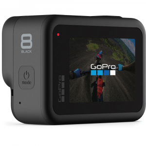 GoPro Hero 8 Black - Comenzi vocale, Stabilizare video, Wi-Fi, GPS, Rezistent la apa, 4k60/1080p2403