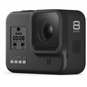 GoPro Hero 8 Black - Comenzi vocale, Stabilizare video, Wi-Fi, GPS, Rezistent la apa, 4k60/1080p2401