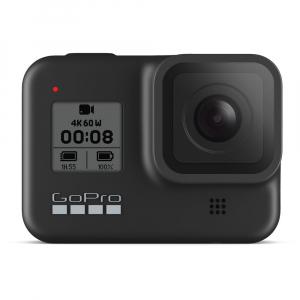 GoPro Hero 8 Black - Comenzi vocale, Stabilizare video, Wi-Fi, GPS, Rezistent la apa, 4k60/1080p2400