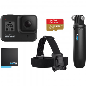 GoPro Hero 8 Black - Special Bundle Kit, Rezistent la apa, 4k60/1080p2400