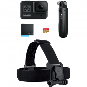 GoPro Hero 8 Black - Special Bundle Kit, Rezistent la apa, 4k60/1080p2402