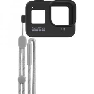 GoPro Sleeve + Lanyard AJSST-001 , husa de silicon + snur reglabil pentru HERO 8 , negru [2]