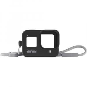 GoPro Sleeve + Lanyard AJSST-001 , husa de silicon + snur reglabil pentru HERO 8 , negru [0]