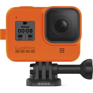 GoPro Sleeve + Lanyard AJSST-004 , husa de silicon + snur reglabil pentru HERO 8 , portocaliu [6]