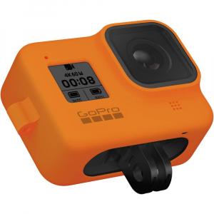 GoPro Sleeve + Lanyard AJSST-004 , husa de silicon + snur reglabil pentru HERO 8 , portocaliu [7]