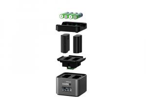 Hahnel - Pro Cube 2, Incarcator Dublu pentru Nikon EN-EL14/a , EN-EL15/a/b2
