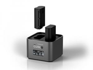 Hahnel - Pro Cube 2, Incarcator Dublu pentru Nikon EN-EL14/a , EN-EL15/a/b1