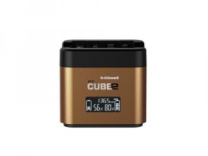 Hahnel - Pro Cube 2, Incarcator Dublu pentru Olympus0
