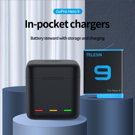 Incarcator USB cu 3 canale - Încărcător rapid Tip C pentru GoPro Hero 9 Negru - GP-BCG-901 [7]
