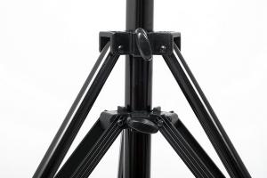 JTL 1200 stativ pentru lumini de studio, H max 4m, Pneumatic, negru [3]
