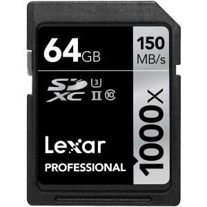 Lexar Professional SDXC 64GB, UHS-II, 150MB/s 1000X0