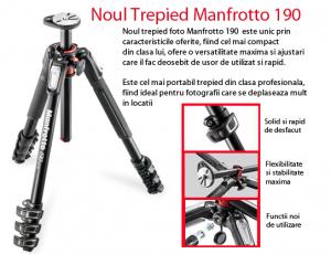 Manfrotto MT190XPRO4 - trepied foto cu 4 sectiuni3