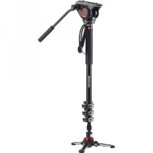 Manfrotto MVMXPRO500 kit monopied video cu baza fluida + cap video [0]