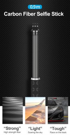 Monopod selfie din fibra de carbon 0.9M pentru Gopro - GP-MNP-90D [0]