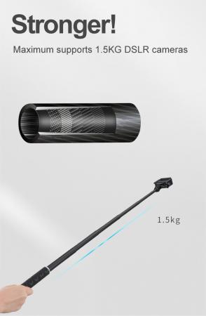 Monopod selfie din fibra de carbon 0.9M pentru Gopro - GP-MNP-90T [3]