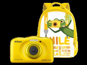 Nikon Coolpix W100 - subacvatic, filmare FHD Kit cu Rucsac -galben0