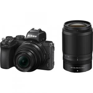 Nikon Z50 + 16-50mm f/3.5-6.3 VR + 50-250mm f/4.5-6.3 VR -  Aparat Foto Mirrorless 4K - Montura Z0