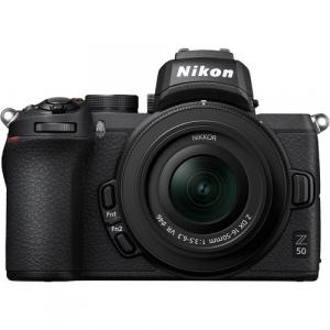 Nikon Z50 + 16-50mm f/3.5-6.3 VR + 50-250mm f/4.5-6.3 VR -  Aparat Foto Mirrorless 4K - Montura Z2