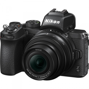 Nikon Z50 + 16-50mm f/3.5-6.3 VR + 50-250mm f/4.5-6.3 VR -  Aparat Foto Mirrorless 4K - Montura Z3