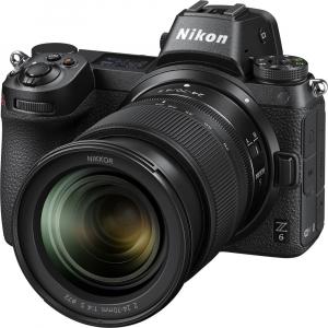 Nikon Z6 kit Nikkor Z 24-70mm f/4 S +adaptor Nikon FTZ, Aparat Foto Mirrorless Full Frame 24.5MP Video 4K  Wi-Fi3