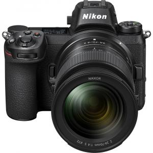 Nikon Z6 kit Nikkor Z 24-70mm f/4 S +adaptor Nikon FTZ, Aparat Foto Mirrorless Full Frame 24.5MP Video 4K  Wi-Fi1