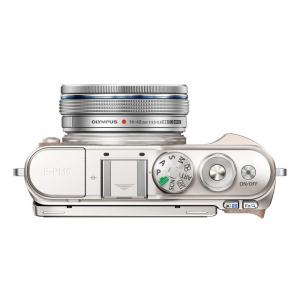 Olympus E-PL10 alb + EZ-M14-42 EZ Pancake argintiu4
