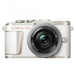 Olympus E-PL10 alb + EZ-M14-42 EZ Pancake argintiu0