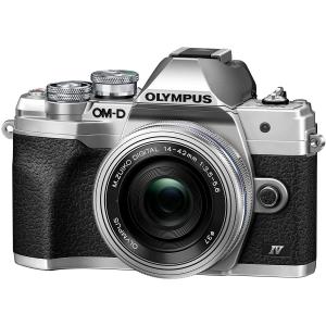 Olympus OM-D E-M10 Mark IV Silver Kit cu 14-42mm F3.5-5.6 EZ silver0