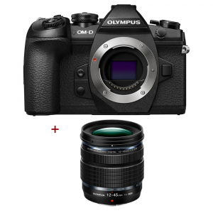 Olympus OM-D E-M1 Mark II kit 12-45mm f/4 PRO, negru0