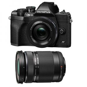 Olympus OM-D E-M10 Mark IV Mirrorless Black Kit cu M.Zuiko ED 14-42mm F3.5-5.6 EZ black + M.Zuiko ED 40-150mm F4.0-5.6 R black [0]