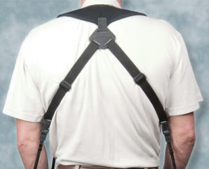 """OP/TECH Dual Harness 3/8"""" Regular black - Ham pentru doua aparate2"""