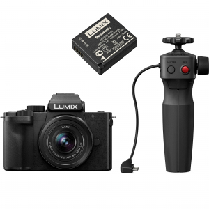 Panasonic Lumix DC-G100V kit G VARIO 12-32 mm f/3.5-5.6 ASPH. MEGA O.I.S. + mini trepied-maner DMW-SHGR1 [0]