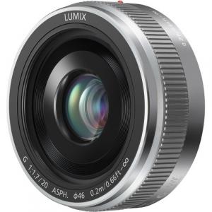Panasonic Lumix G 20mm f/1.7 II ASPH argintiu - montura m4/3 (MFT)0