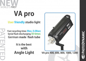Photo Dynamic VA 600 Angle Light - blitz studio 600W1