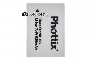 Phottix NB-10L , acumullator foto pentru Canon G1X, G15, SX40, SX50 [0]