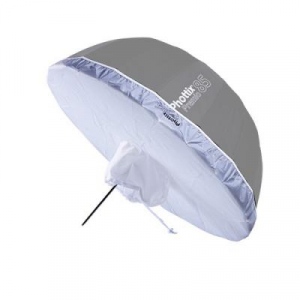 Phottix Premio - umbrela reflexie 85cm Silver/Black + diffuser1