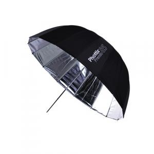 Phottix Premio - umbrela reflexie 85cm Silver/Black + diffuser0
