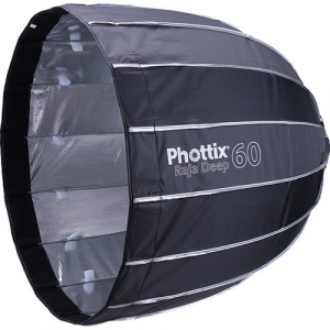 Phottix Raja Deep Quick-Folding Softbox parabolic 60cm + grid + montura Bowens [0]