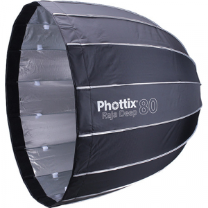 Phottix Raja Deep Quick-Folding Softbox parabolic 80cm + grid + montura Bowens0