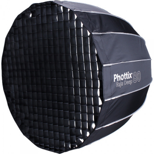 Phottix Raja Deep Quick-Folding Softbox parabolic 80cm + grid + montura Bowens3