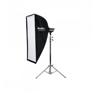 Phottix Raja Mouse Quick-Folding softbox 60x120cm + grid + montura Bowens0