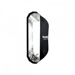 Phottix Raja Oval Quick-Folding softbox 50x120cm + grid + montura Bowens1