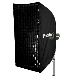 Phottix Raja Quick-Folding Softbox 60x90cm + grid + montura Bowens0
