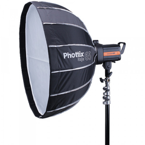Phottix Raja Quick-Folding Softbox parabolic 65cm + grid + montura Bowens0