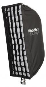 Phottix Softbox portabil, tip umbrela 40cm x 90cm + GRID ,  pentru blitz extern cu patina0