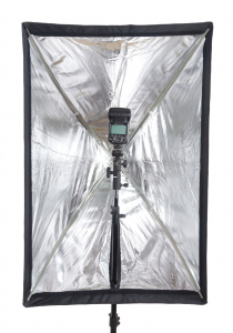 Phottix softbox portabil, tip umbrela 60cm x 90cm + GRID ,  pentru blitz extern cu patina [2]