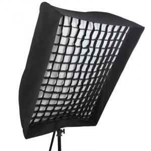 Phottix softbox portabil tip umbrela  90 x 120 cm + grid - pentru blitz extern0