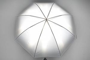 Phottix umbrela 2 straturi (argintiu / negru ) 101cm2