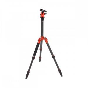 Rollei Compact Traveler No. 1 Carbon - kit trepied + cap cu bila , portocaliu / negru2