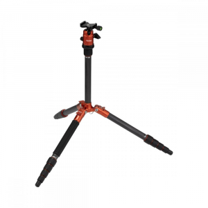 Rollei Compact Traveler No. 1 Carbon - kit trepied + cap cu bila , portocaliu / negru [4]